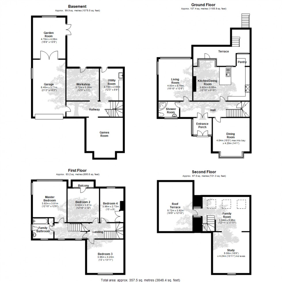 Floorplan for Nore Road, Portishead